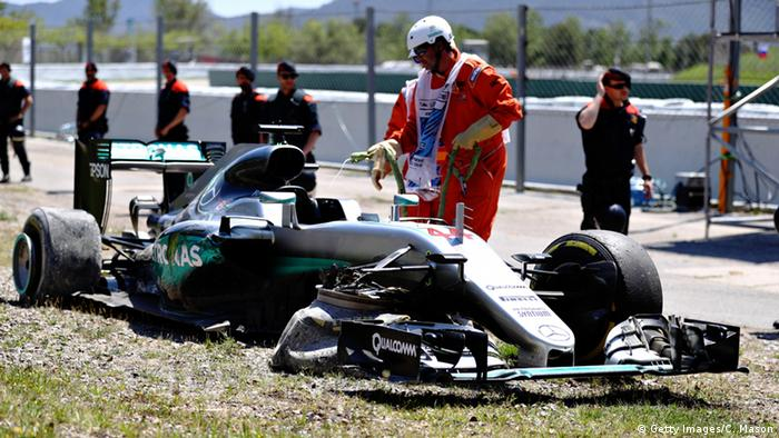 Formel 1 Grand Prix Spanien Barcelona Mercedes Team Crash