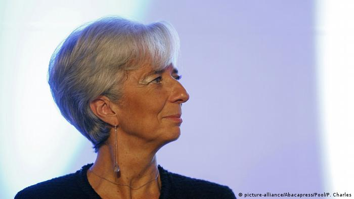 IWF-Chefin Christine Lagarde (Foto: picture-alliance/Abacapress/Pool/P. Charles)