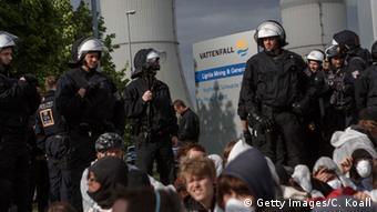 Deutschland Lausitz Welzow Aktivisten Besetzung Kraftwerk