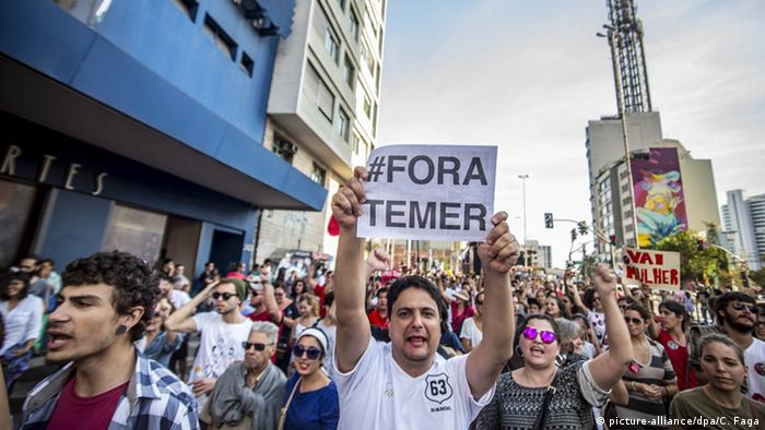 Brasilien Demonstration gegen Michel Temer in Sao Paulo
