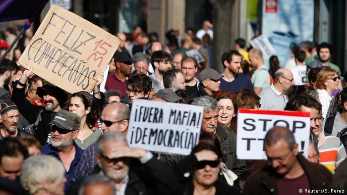 Spanien Protestbewegung M15 in Madrid