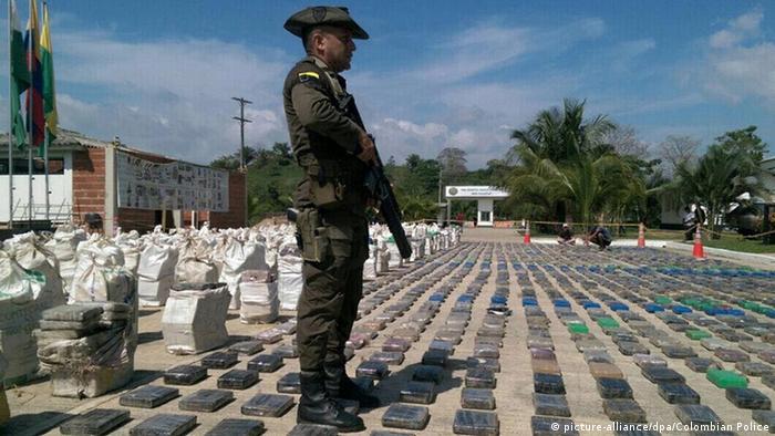 Oito toneladas de cocaína apreendidas na Colômbia