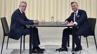 Ван дер Беллен и Хофер на теледебатах