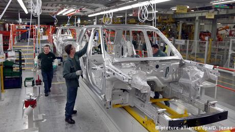 England Jaguar Land Rover Autofabrik in Solihull