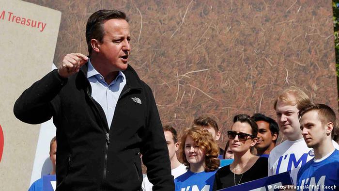 Großbritannien David Cameron hält Rede während Kampaqne