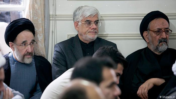 Iran Mohammad Khatami ehemaliger Präsident und Mohammad Reza Aref