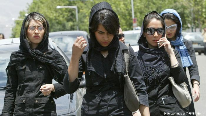 Young women in Tehran