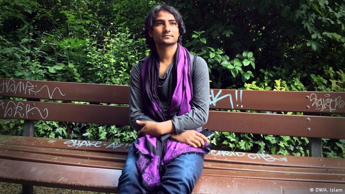 Homosexuellen- Aktivist Riamoni Chisty aus Bangladesch in Köln (Foto: DW)