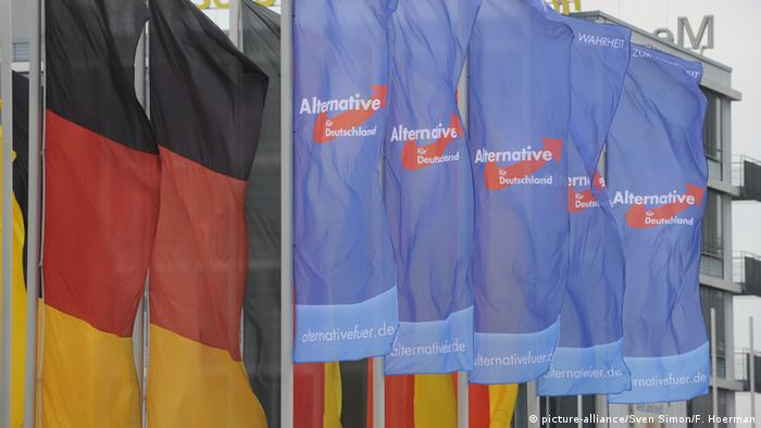 AfD and German flags