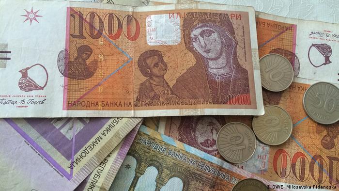 Mazedonien Geld Denar (DW/E. Milosevska Fidanoska)
