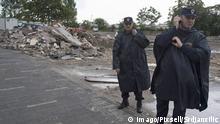 Serbien Belgrad Zerstörung von Häusern im Stadteil Savamala