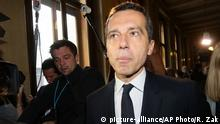 17.05.2016 *** Christian Kern arrives for a hearing as a new chancellor for the Austrian Social Democrats, SPOE, in Vienna, Austria, Tuesday, May 17, 2016. Kern will be inaugurated later on Tuesday by the Austrian President Heinz Fischer. (AP Photo/Ronald Zak) | © picture-alliance/AP Photo/R. Zak