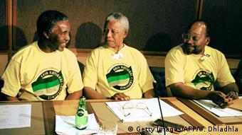 Jacob Zuma, Thabo Mbeki and Nelson Mandela (Getty Images/AFP/W. Dhladhla)