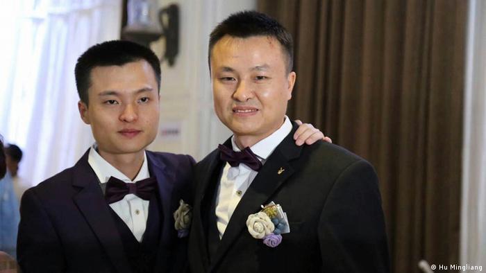 China homosexuelles Paar Hochzeit - Hu Mingliang