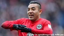 5.3.2016 *** FRANKFURT AM MAIN, GERMANY - MARCH 05: Marco Fabian of Frankfurt reacts during the Bundesliga match between Eintracht Frankfurt and FC Ingolstadt at Commerzbank-Arena on March 5, 2016 in Frankfurt am Main, Germany. (Photo by Simon Hofmann/Bongarts/Getty Images) Copyright: Getty Images/Bongarts/S. Hofmann