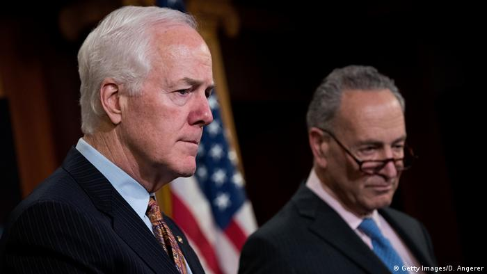 USA Washington Senatoren John Cornyn und Chuck Schumer (Getty Images/D. Angerer)