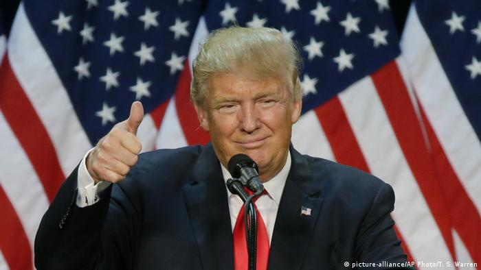 Donald Trump giving a thumbs-up