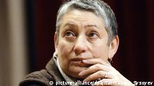MOSCOW, RUSSIA. DECEMBER 13, 2006. Writer Lyudmila Ulitskaya holds a launch party for her book 'Daniel Stein, Translator' in the Oval Hall of the Russia's State Foreign Literature Library. Foto: +++(c) picture-alliance/dpa/Itar-Tass/G. Sysoyev