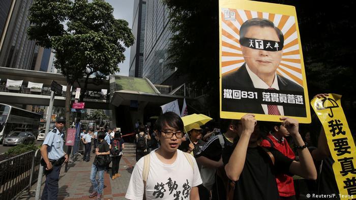 Hongkong Proteste gegen Zhang Dejiang