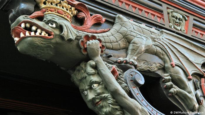 Фрагмент фасада фахверкового дома, Марбург