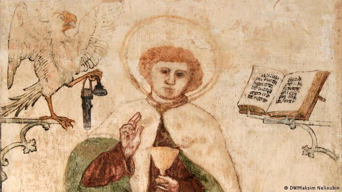Фреска в часовне Марбургского замка
