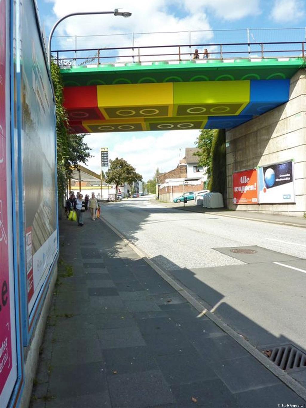 Wuppertal Lego-Brücke an der Schwesterstraße Foto: Stadt Wuppertal