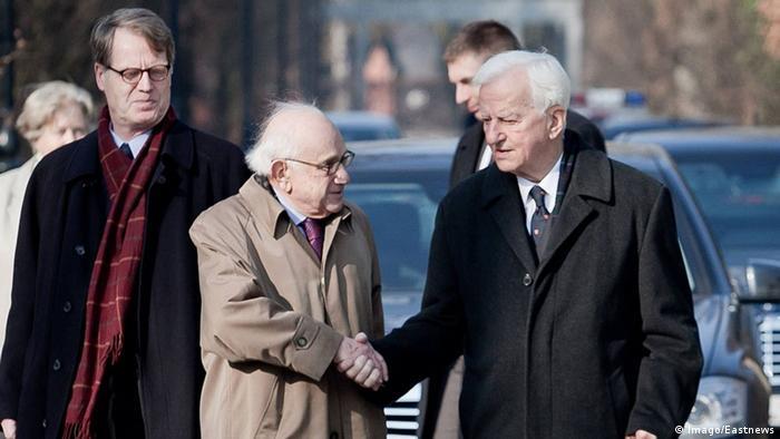 Historiker Fritz Stern mit Bundespräsident von Weizäcker bei einem Besuch in Polen.(c) Imago/Eastnews