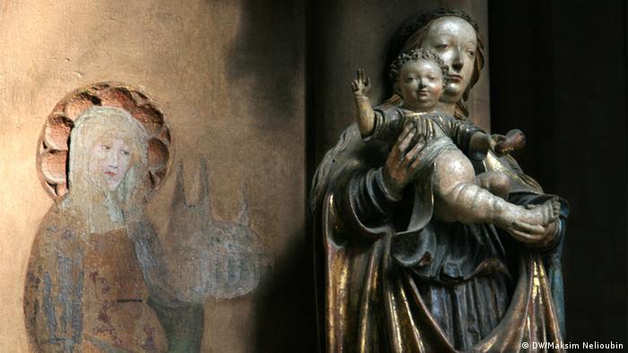 Скульптура Девы Марии и изображение Святой Елизаветы, Марбург