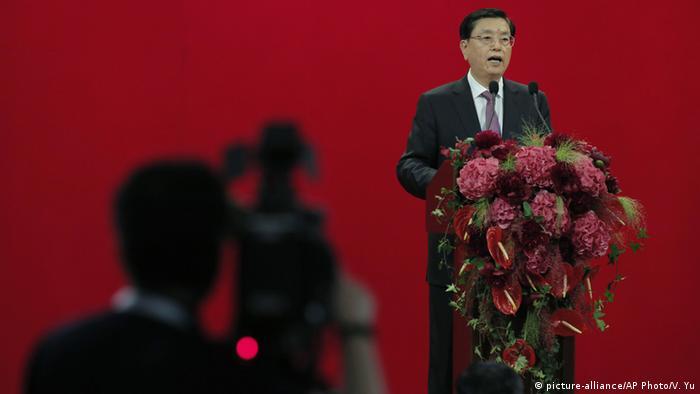 Hongkong Rede Zhang Dejiang - China's National People's Congress