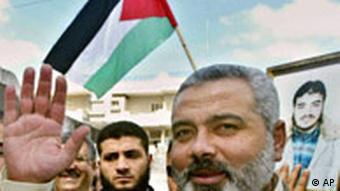 Ismail Haniya, Hamas member and PM of Gaza Strip