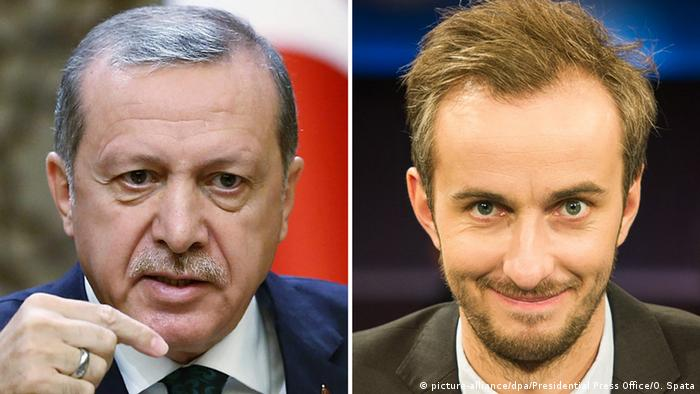 Kombo Erdogan und Jan Böhmermann (picture-alliance/dpa/Presidential Press Office/O. Spata)