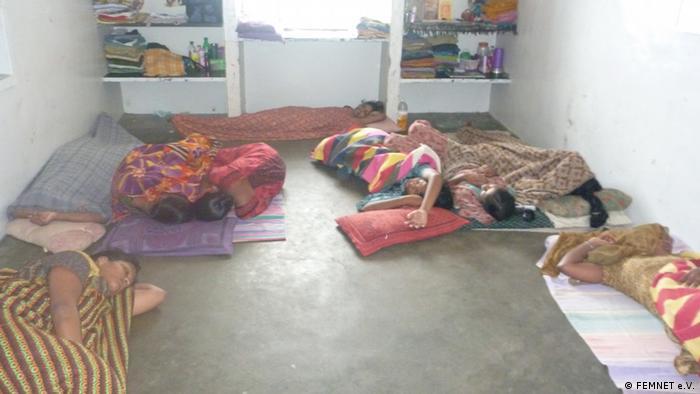 Indien Frauen in Spinnerei in Tamil Nadu
