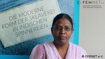 Mary Viyakula, Mitarbeiterin der NGO SAVE (Social Awareness & Voluntary Education) (Foto: Femnet e.V.)
