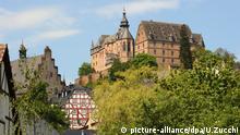 Blick auf das Marburger Landgrafenschloss, aufgenommen am 21.05.2010. Foto: Uwe Zucchi dpa/lhe | Verwendung weltweit © picture-alliance/dpa/U.Zucchi