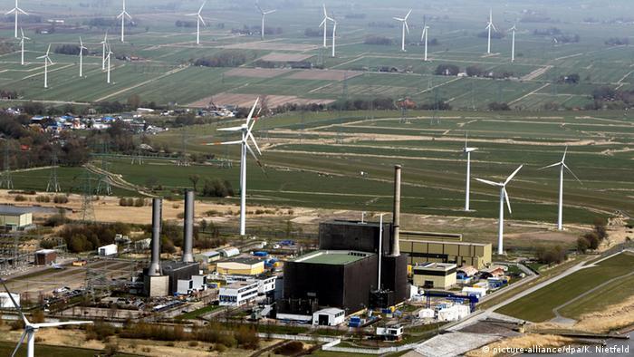 Brunsbüttel nuclear power station in Germany