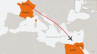 EgyptAir flight path