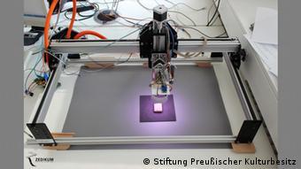 Der Zedikum-Scanner begutachtet ein Objekt, Foto: Zedikum
