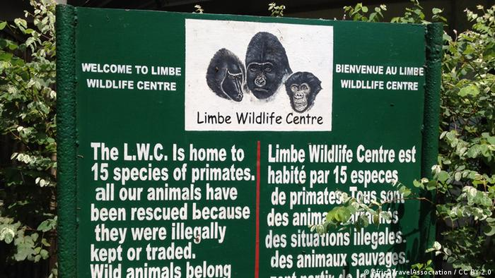 Limbe Wildlife Center sign