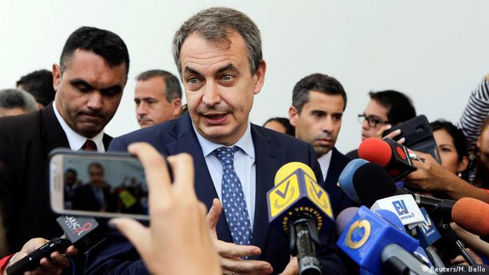 Jose Luis Rodríguez Zapatero, a fines de mayo en Caracas.