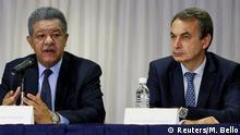 Versuchen in Venezuelas Dilemma weiter zu vermitteln: Leonel Fernandez (links) und Jose Luis Rodriguez Zapatero