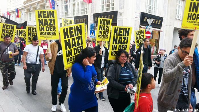 Демонстрація проти нацизму напередодні президентських виборів