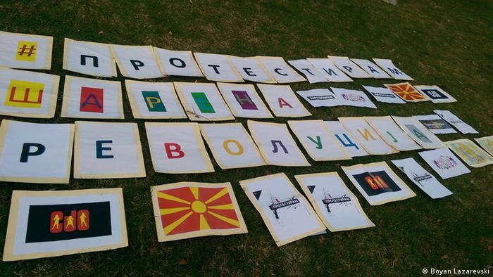 Diaspora unterstützt die Bunte Revolution in Mazedonien