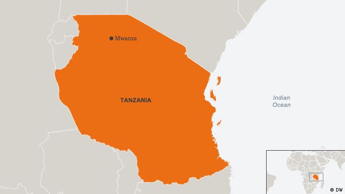 Karte Tanzania Mwanza Englisch
