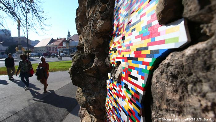 Lego Kunst von Jan Vormann in Zagreb (picture alliance/PIXSELL/S. Strukic)