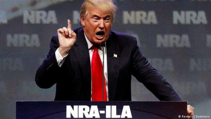 Donald Trump Rede Waffenlobby NRA (Reuters/J.Sommers)
