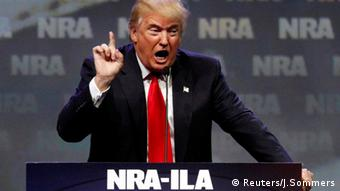 Donald Trump Rede Waffenlobby NRA