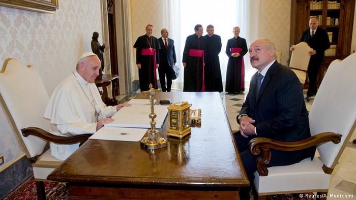 Встреча Александра Лукашенко и папы Римского Франциска