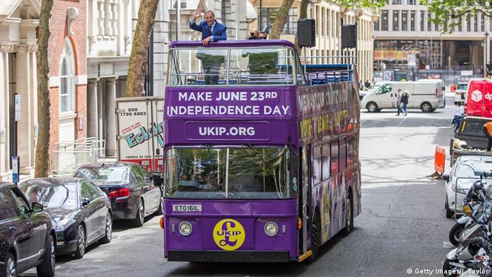 Агитационный автобус в Лондоне за выход Великобритании из ЕС