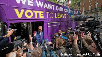 Nigel Farage on Brexit Bus