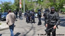 Kasachstan Almaty Demo gegen Land-Verpachtung